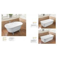 Various Size Acrylic Massage Bathtub / Acrylic Freestanding Tub White Color Manufactures