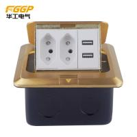 CE Pass Rj45 Floor Socket , Floor Mounted Socket Outlet With USB Charger Manufactures
