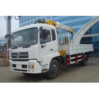 5T 6x4 Dongfeng Used Crane Truck 12000X2500X3850mm With Stretchable Arm Manufactures