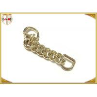 Zinc Alloy Custom Bag Hardware Gold Metal D Ring With Chain Die Casting Plating Manufactures