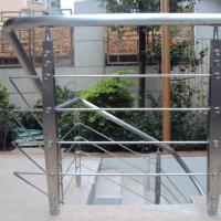 Best Quality s.s Solid Rod Bar Railing Price / Balcony Stainless Steel Rod Bar Railing Design Manufactures