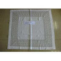 Elegant Pattern Natural Linen Tablecloth Hand Washing Better With 8cm Double Border Manufactures
