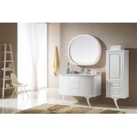 White High Gloss Bathroom Vanity Units Wooden Cabinet With 2 Legs Floor Stand Manufactures