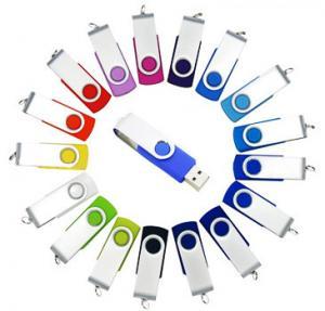 China micro usb flash drive 8GB / 16GB Rotating swivel Plastic USB Flash Drive on sale