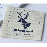 100% Cotton Clothing Custom Printed Clothing Labels Knitted Fabric Manufactures