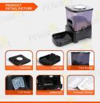 Large capacity black automatic pet feeder
