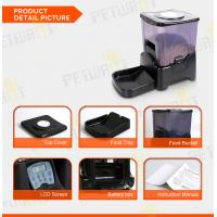 Quality Large capacity black automatic pet feeder for sale