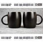 400ML Beer barrel mug black ceramic beer mug custom advertising LOGO for your design Manufactures