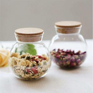 China Glassware Candy Jar Glass Coffee Tea Jar Kitchenware Storage Jar Glass Cookie Jar on sale