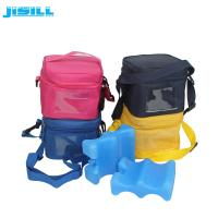 China 4 Bottle Carry Insulated Wine Beer Bottle Cooler Bag with wavy shape ice pack on sale