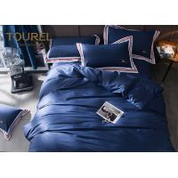 100% Stone Washed Hotel Quality Bed Linen soft Linen dyed bedding set Dark Blue Manufactures