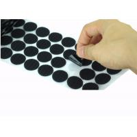 China Die Cut Back Adhesive Hook And Loop Dots 100mm Velcro Coins Bulk wholesale