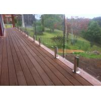 Buy cheap Chinese supplier high quality terrace railing designs frameless stainless glass from wholesalers