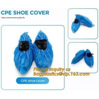 PE material blue shoe cover cheaper disposable plastic shoe cover,Low Price plastic shoe cover medical,bagease bagplasti Manufactures