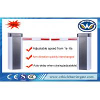 Adjustable Speed Auto Barrier Gate System 100m Remote Control Distance 210W Manufactures