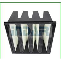 Box Type V Bank Air Filter , High Efficiency HEPA Filter Large Filtration Area Manufactures