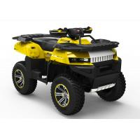 Kandi Yellow 700CC Utility EEC ATV With One Seat And Double Swing Arm Manufactures