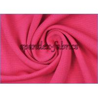 Rose Polyester Jersey Knit Ultrathin Little Stretch Lining Fabric for Dress Garment Manufactures