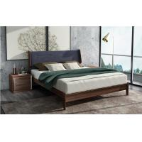 Quality 2017 New Walnut Wood Bedroom Furniture Nordic design King size bed for sale