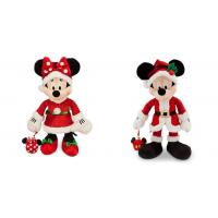 Fashion Christmas Mickey Mouse and Minnie Mouse Disney Plush Toys 40cm Manufactures