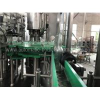 3 In 1 Glass Bottle Filling Machine With Touch Screen PLC Controller Manufactures