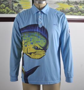 Custom Dlong Sleeve Fishing T Shirts , UV Protection Fishing ShirtsFull Sizes Manufactures
