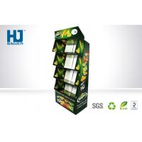 Popular Pattern Green Folding Customized Cardboard Pallet Display Stand for Snacks Promotion Manufactures