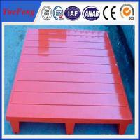 Painting/powder coating red color aluminum alloy pallets, pallets for sale Manufactures