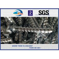 GB standard Hot-Dip Galvanized Spiral Spikes with 35# Steel for railroad fastening Manufactures