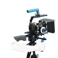Dslr rig movie kit with shoulder mount+Hand Grip+Follow Focus+Matte BoxFor Camcorder Manufactures