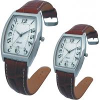 Valentine's Day Supply Couple Leather Band Quartz Watch Stainless SteeL Backcase