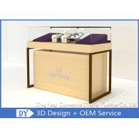 Wood Store Jewelry Display Showcase With Large Removable Storage Manufactures