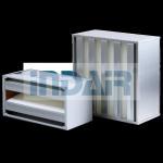SS Frame V Bank Air Filter H10 / H13 No Partition Design Long Service Life Manufactures