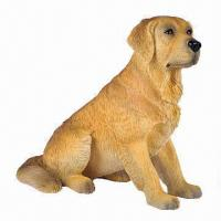 China Dog Statue Craft, Made of Polyresin on sale