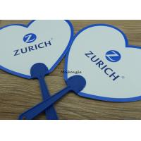 Summer Portable Round Plastic Hand Held Fans For Promotional Gifts Manufactures
