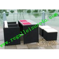 China 2013 outdoor garden cheap synthetic rattan cube dining furniture set RLF-12077S on sale
