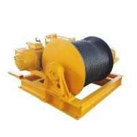 China Engine Powered Fast Speed Winch , Heavy Duty Carbon Steel Cable Pulling Winch on sale