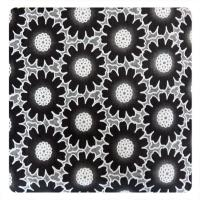 Fashion Different Color Big  Floral Cotton Polyester Lace Fabric , Burn Out Lace Fabric Manufactures