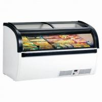China Accurate Temperature Display Chest Freezer , Commercial Chest Freezer Glass Top on sale