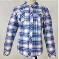 Muti Color Ladies Fleece Jackets , Soft Ladies Cotton Check Shirt Skin Cared Manufactures