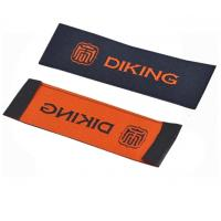 Custom Logo Personalized Apparel Labels Glue Adhesive Sticker Iron On Woven Labels Manufactures