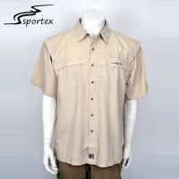 Buy cheap Plain Dyed Mens Cotton Short Sleeve Shirts Custom Color Loose Camping Shirts from wholesalers