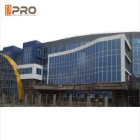 Building Aluminum Profile Double Tempered Glass Exterior Curtain Wall Sound Isolation Manufactures