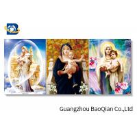 China Wall Decor Lenticular Flip Religious Virgin Mary / Jesus / God 3D Picture on sale
