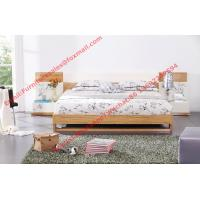 Modern bed furniture by oliver melamine MDF Bed and white glossy nightstand Manufactures