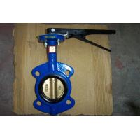 Sanitary Cast Iron Wafer Butterfly Valve , API 609 / ISO 5752 / BS 5155 Manufactures