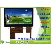 China High Brightness 4.3 inch Touch Screen LCD Display bonding 480x272 Color LCD Module on sale
