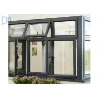 Soundproof Aluminium Casement Anodized Glass Window With Grill Design Manufactures