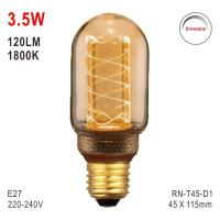 Buy cheap T45 Bulb, LED Deco Bulb, E27 Bulb, Fashionable Glass Bulb, Warm White LED Candle from wholesalers