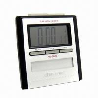 China Blue LED Alarm Clock, Supports Batteries, Measures 100 x 37 x 110mm on sale